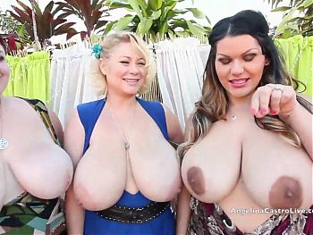 Hot BBW Angelina Castro, Trinity Guess And Sam 38G In BJ POV