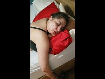 Latina milf wakes up with a huge dick in her virgin ass