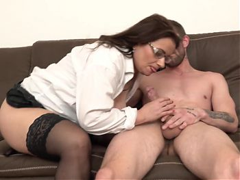 BBW mom suck and fuck lucky son