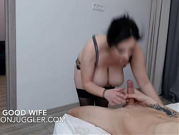 Busty BBW fucked by a big white cock